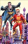 Flamebird and Nightwing