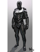 Black Rogue Armor by thedarkestseason