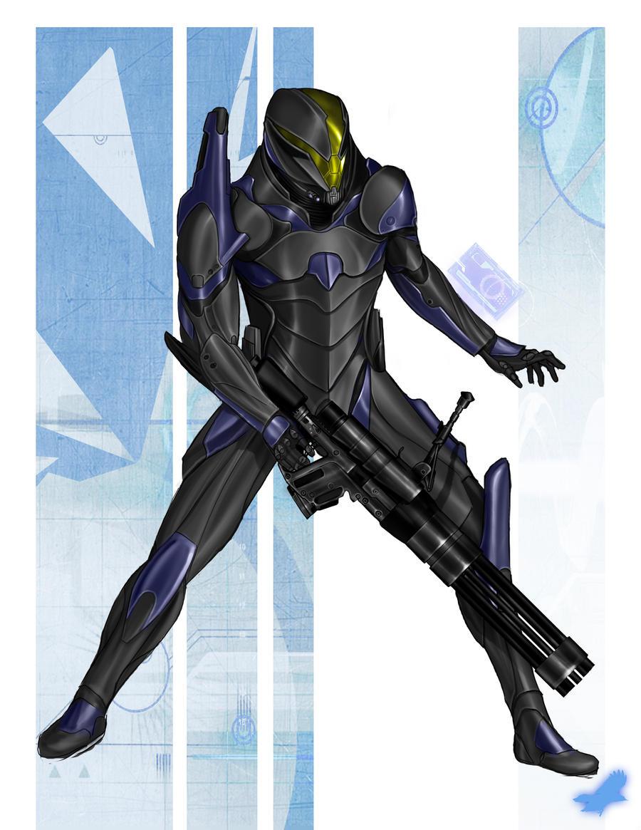 Big guns and shiny armor by thedarkestseason