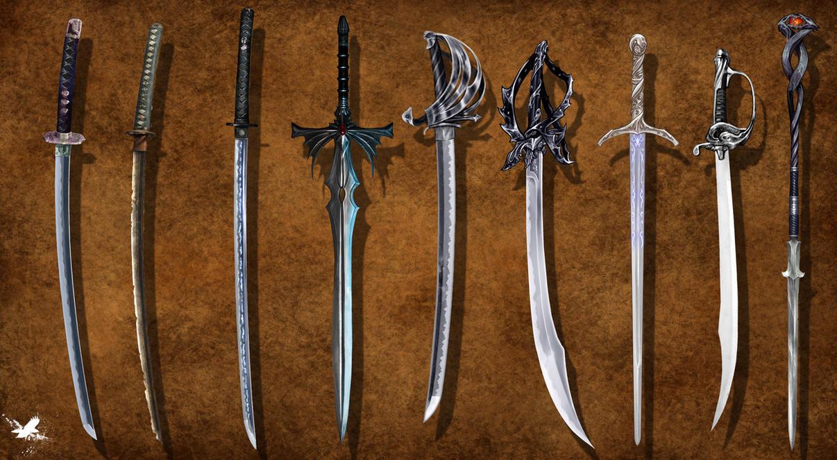 sword concepts by thedarkestseason