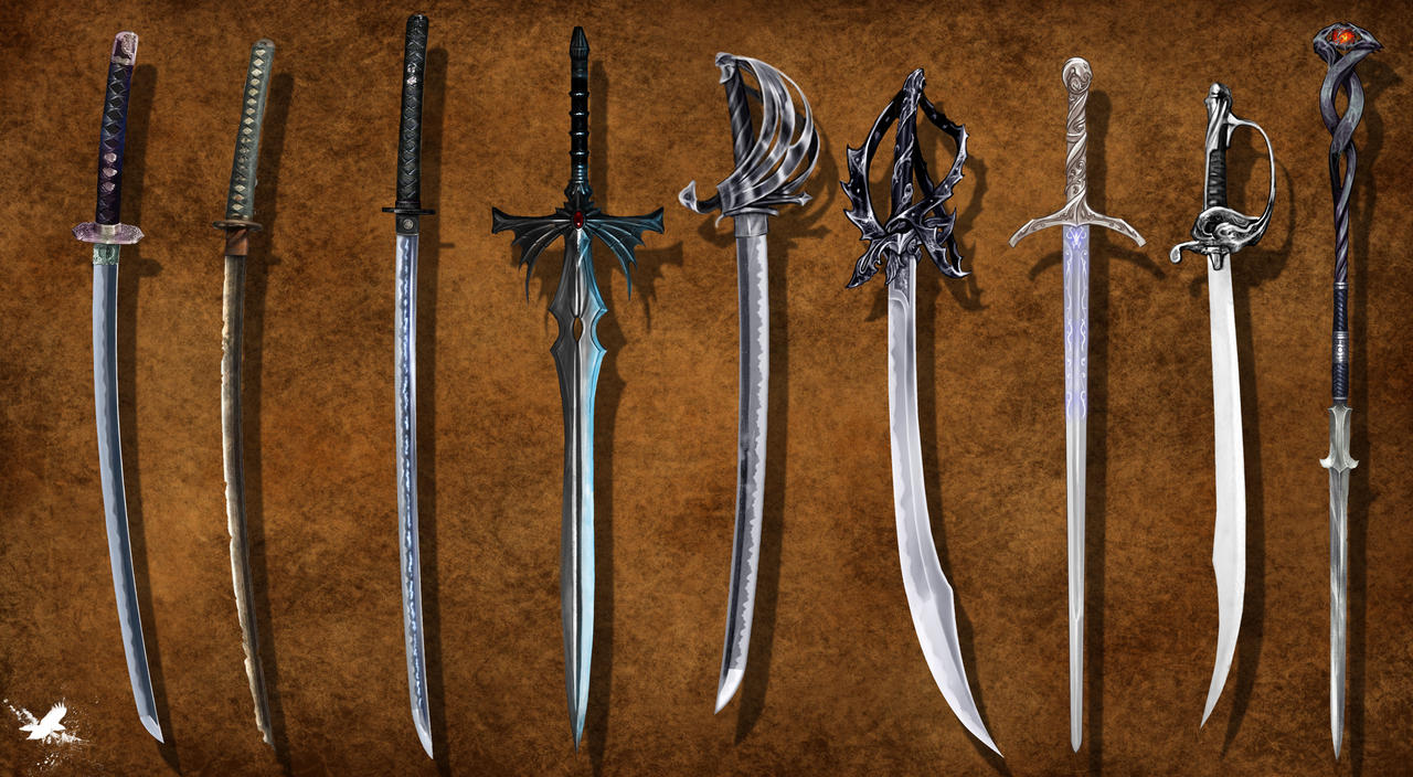 sword concepts by thedarkestseason