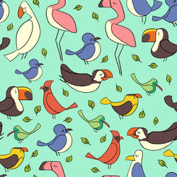 Bird Pattern by Lexie-Holliday