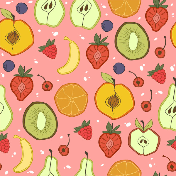 fruit pattern by Lexie-Holliday on DeviantArt