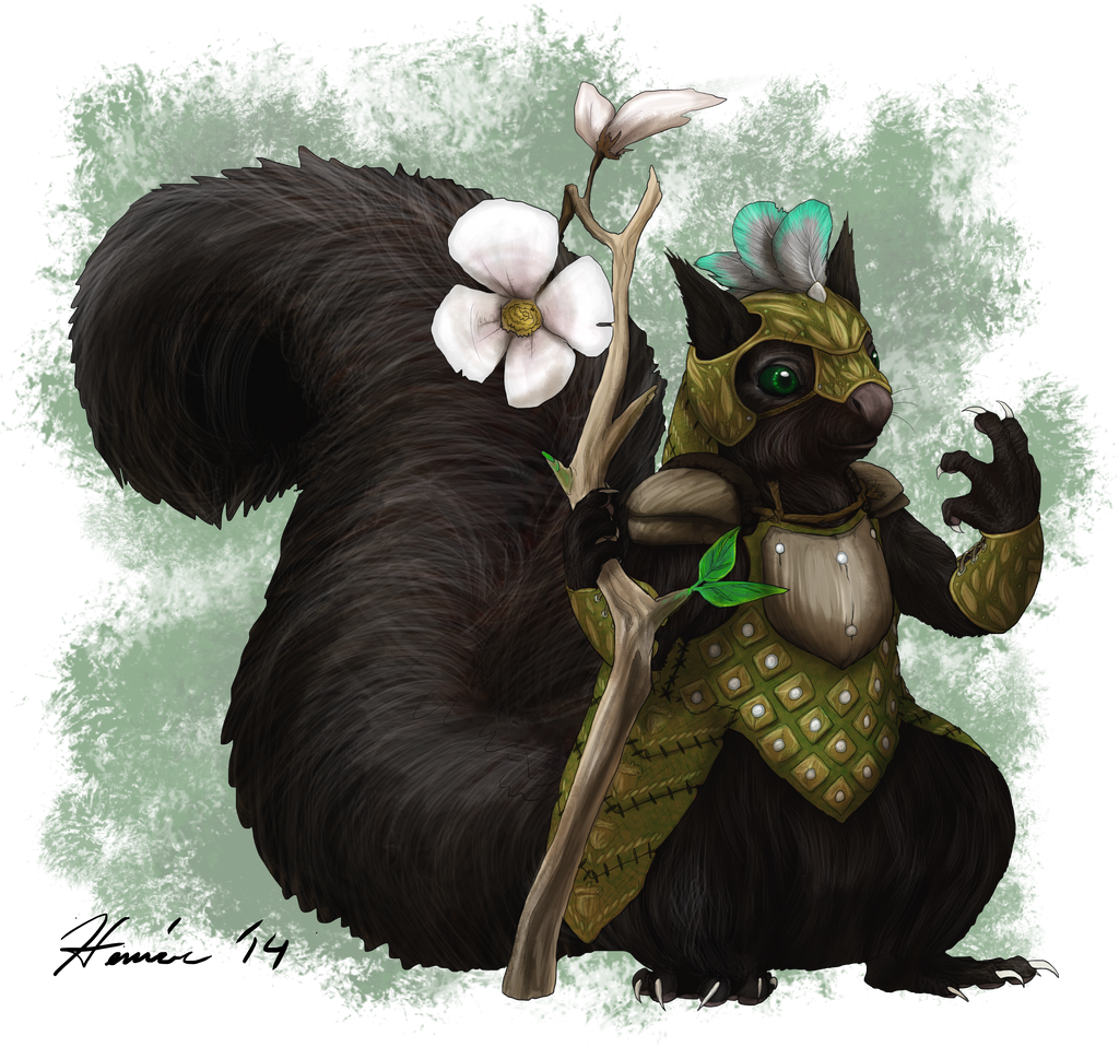 Our new 5e Druid~? by FishBatDragonThing