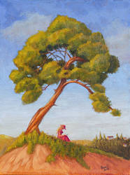 Under the tree - oil