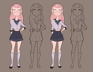 School girl 1 by Dreemers