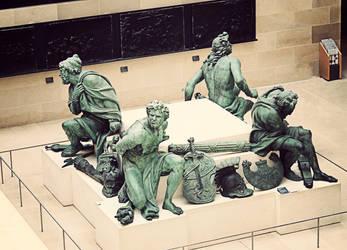 Inside Louvre by cementum