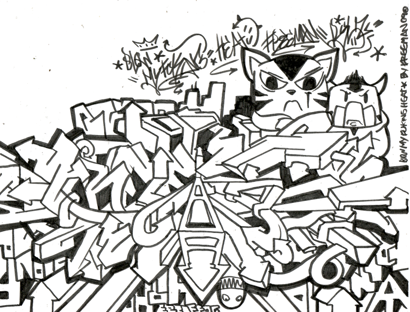 Image Result For Graffiti Coloring Pages