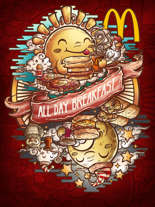 Mcdonalds All day breakfast Threadless contest by jml2art