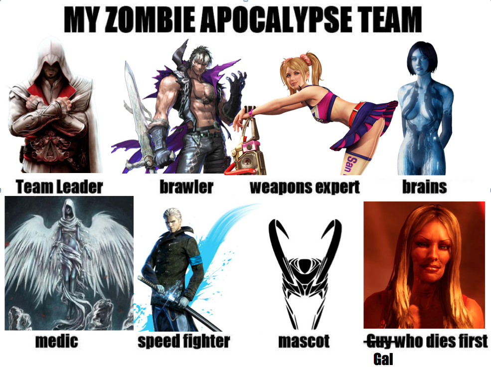 Zombie Apocolypse Team Game Edition by DaughterofEzioAudito