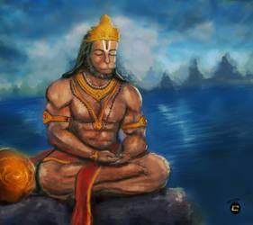 Hanu meditate by cybersaint