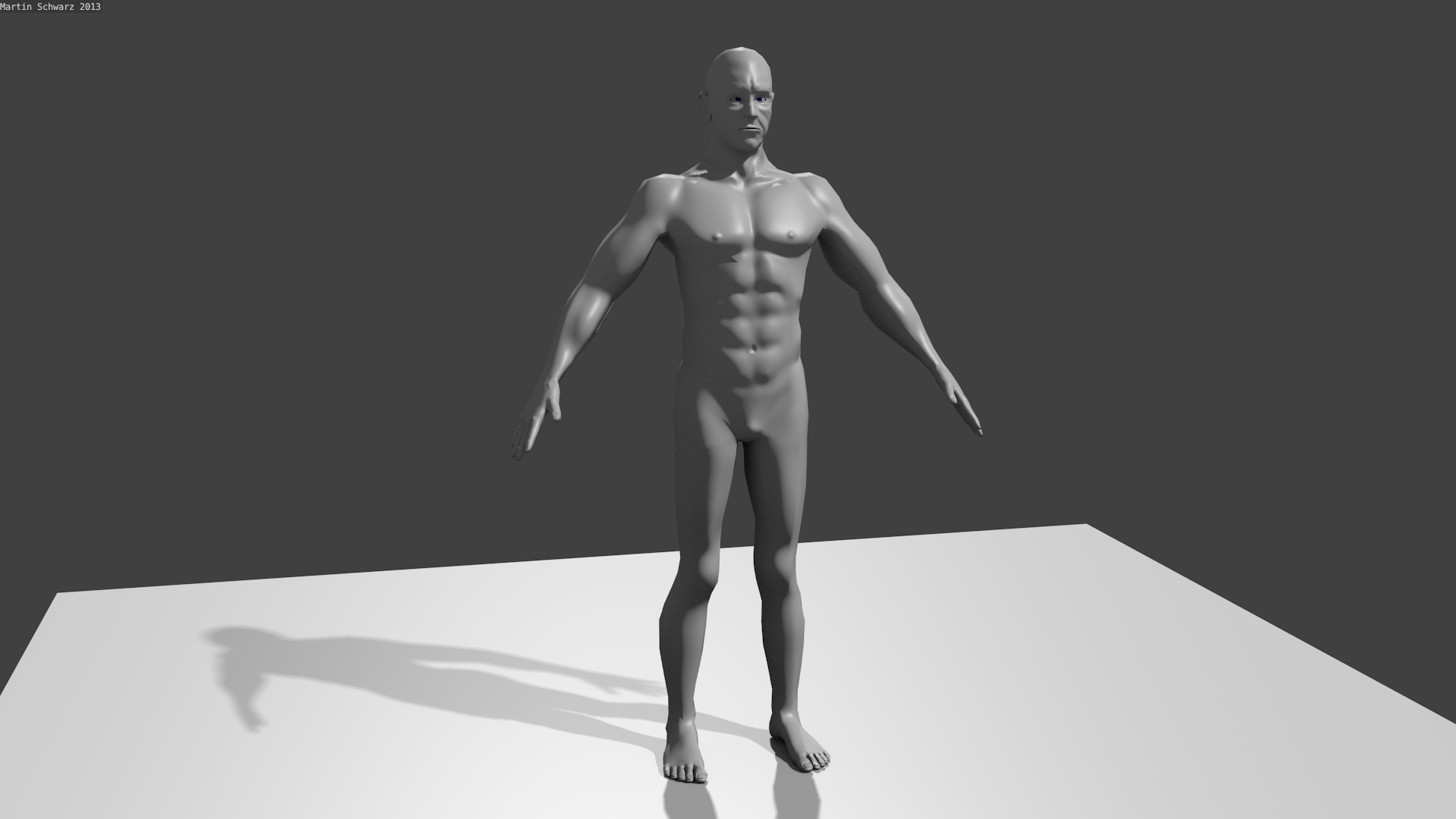 3d human male character base model by emperor of mars on
