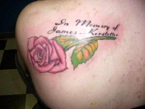 Rose memorial by leech0320 on deviantart for Tattoo shops in elyria ohio