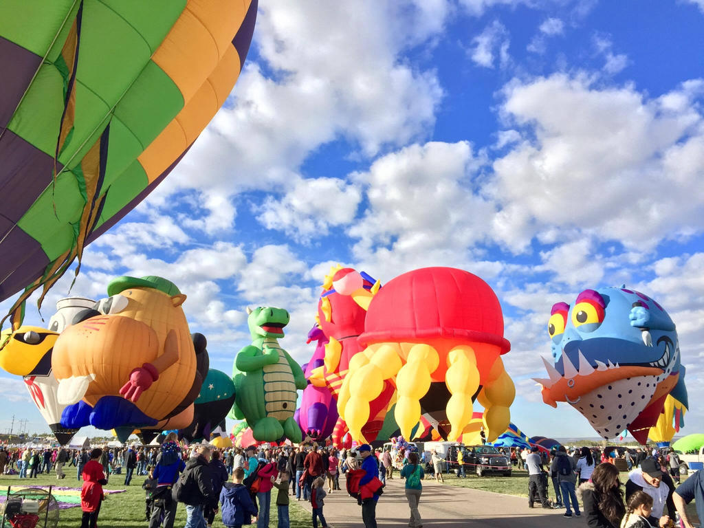 Characters albuquerque balloon fiesta 2016 by for Craft shows in albuquerque 2017