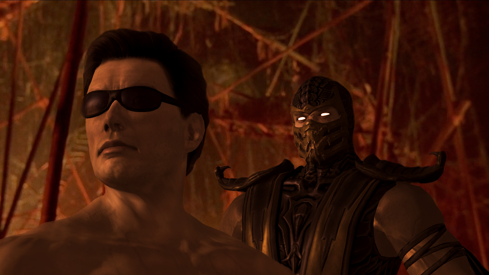 Welcome Johnny Cage Vs Scorpion Concept By Odawne On Deviantart