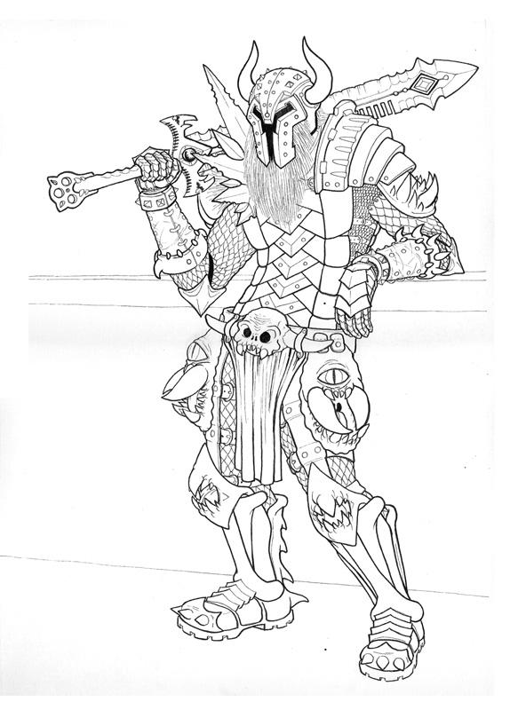 Line Drawing Knight : Hell knight lines by fenix on deviantart
