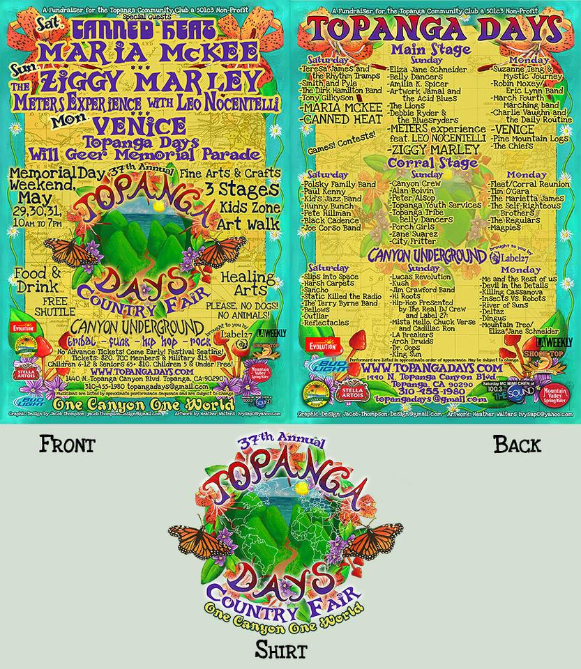 Topanga Days 2010 Poster by fenix42