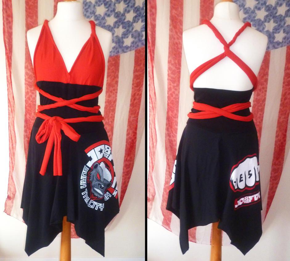 Customised T-shirt Swing Rockabilly Dress by MissCaz