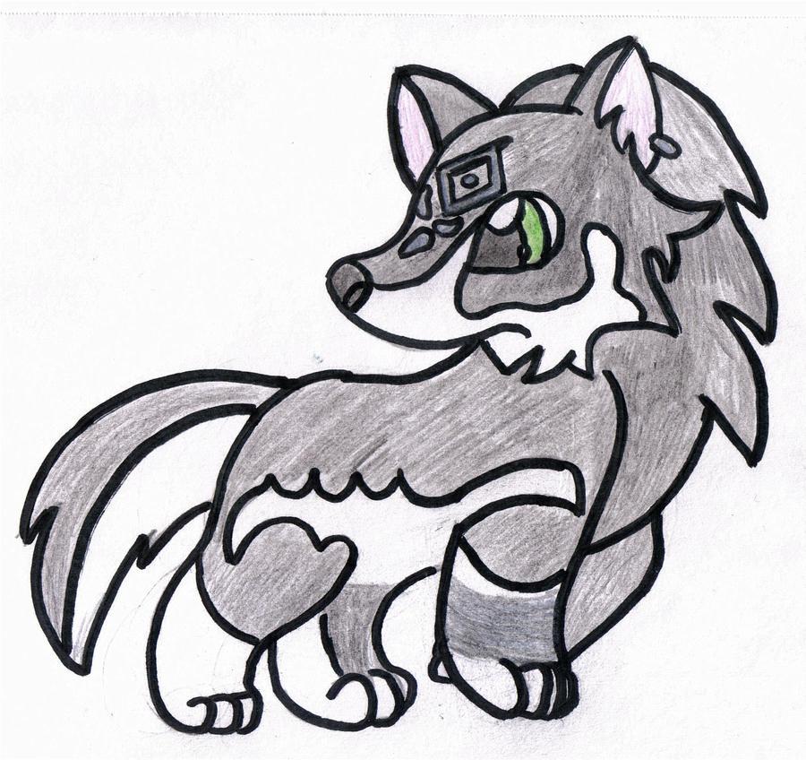 Chibi Wolf Drawing