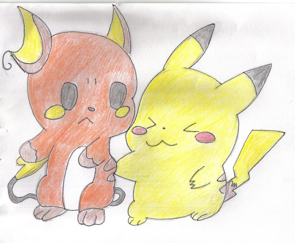 Pikachu and raichu dancing - photo#19