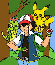 Ash And Caterpie