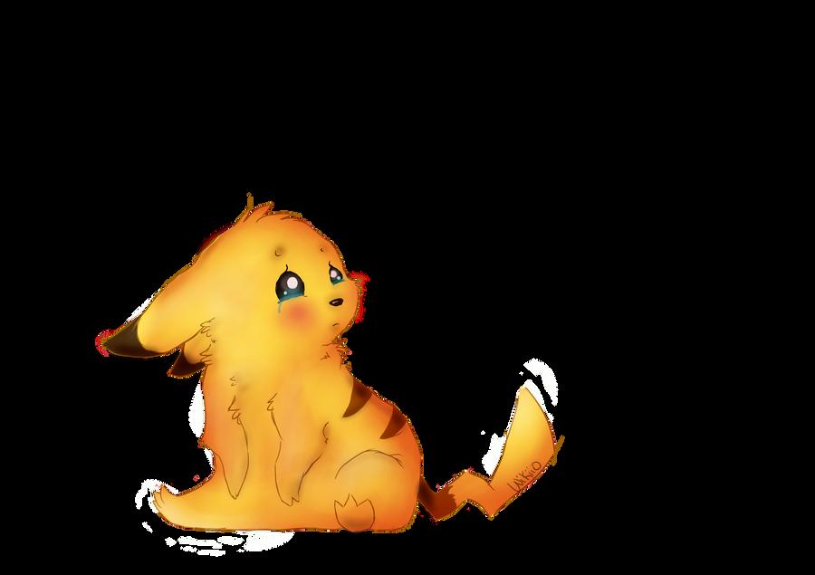 Sad Little Pikachu by wikiio on DeviantArt