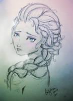 Elsa Sketch by wikiio