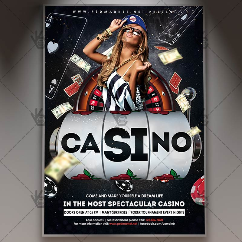 casino party club flyer psd template by psdmarket on deviantart