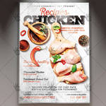 Chicken Recipes - Food Flyer PSD Template