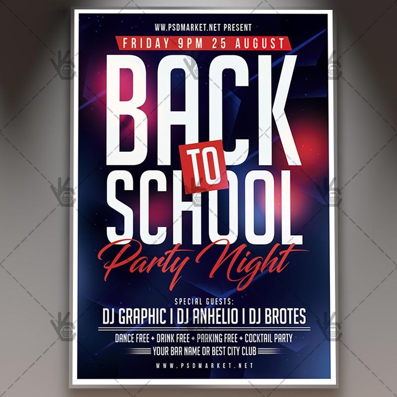 Back To School Party Flyer Psd Template By Psdmarket On Deviantart