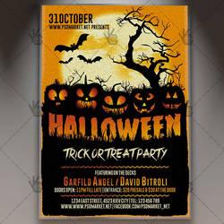 Halloween Night Flyer - PSD Template