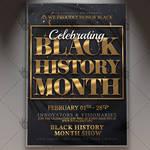 Black History Month Celebrating Flyer - PSD Templa