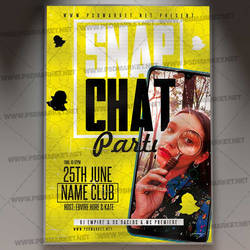 Snap Chat Flyer - PSD Template by PSDmarket