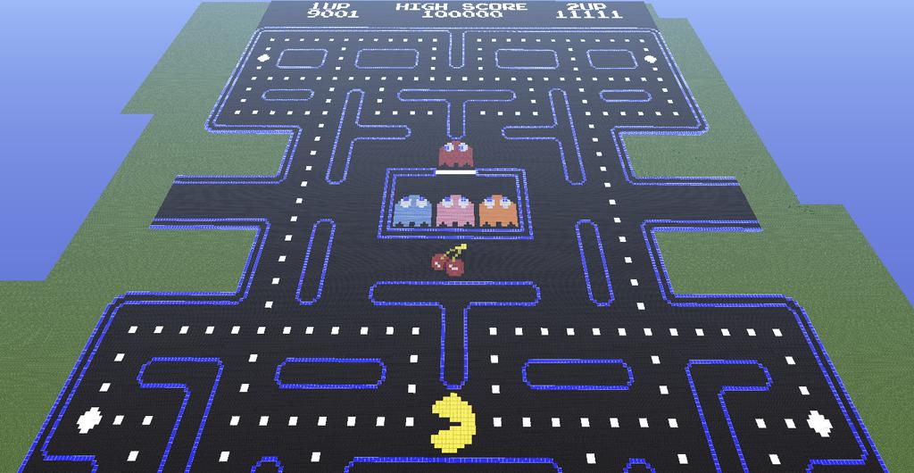 Pacman in Minecraft by wolfstorm95 on DeviantArt  Pacman in Minec...