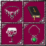 Pixel art: Necromancer item set 001