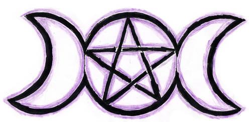 Goddesses' Pentagram by Aku-Ookami-Mecchen