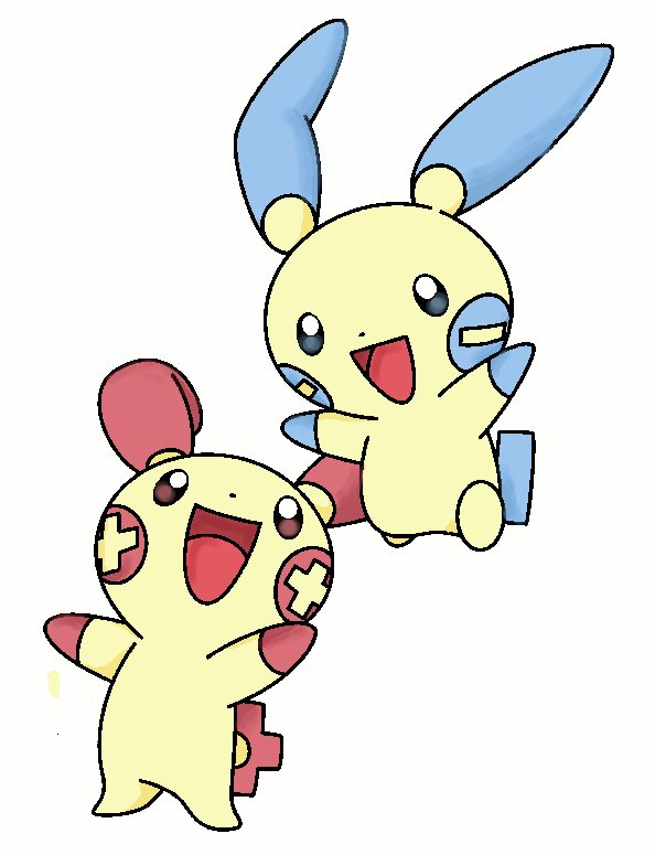 plusle and minun coloring pages - cute pikachu plusle and minun hot girls wallpaper