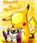 Pikachu and Meta Knight
