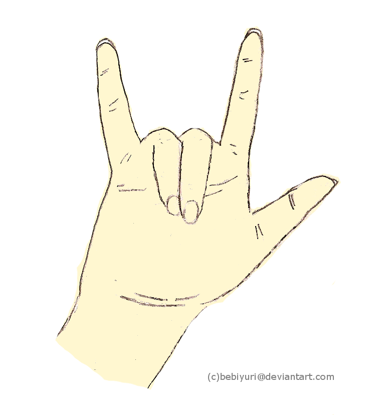 i Love You Sign Language Drawing i Love You Sign Language by