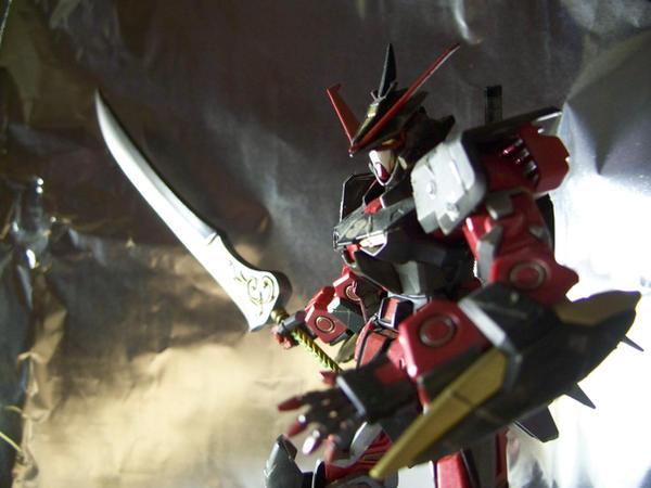Karasu Gundam w Auron Sword 1 by RedKARASU