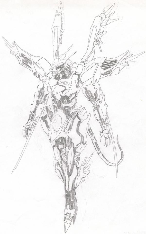 Orbital Frame Karasu by RedKARASU