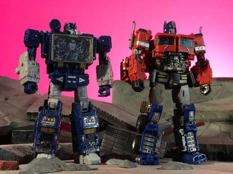 Soundwave and Optimus Prime