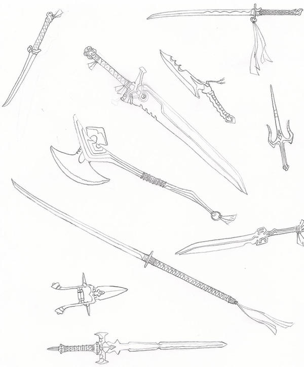 Weapons by RedKARASU