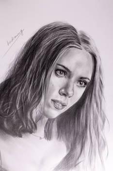 Black Widow (Scarlett Johansson) pencil drawing