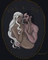 Jon Snow and Daenerys Targaryen by jordanoye