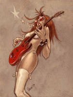 Guitar Girl sketch02 by soul71