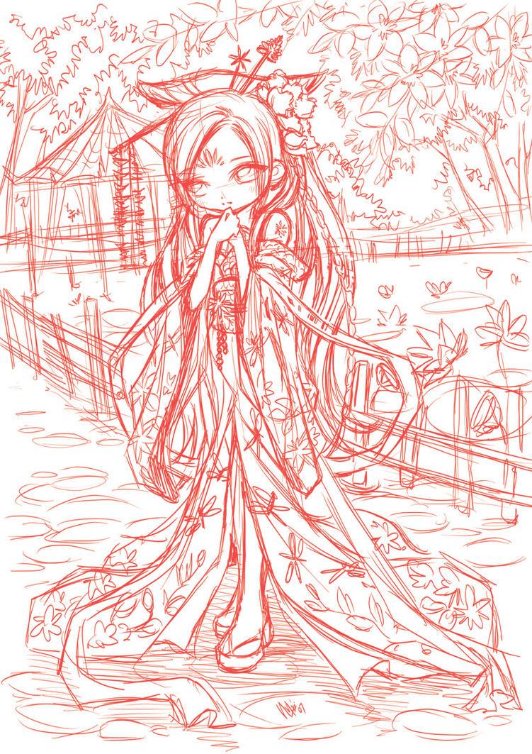 little shy princess...doodle by sureya