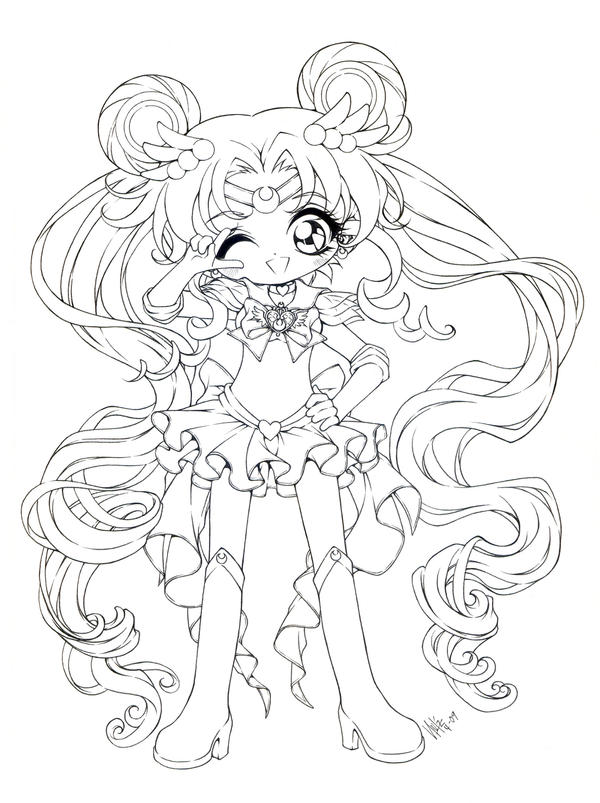 chibi moon coloring pages - photo#32
