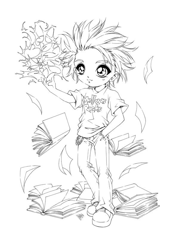 anime coloring pages deviantart art - photo#36