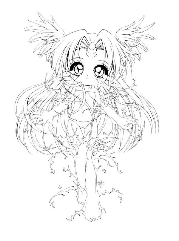 anime coloring pages deviantart art - photo#15